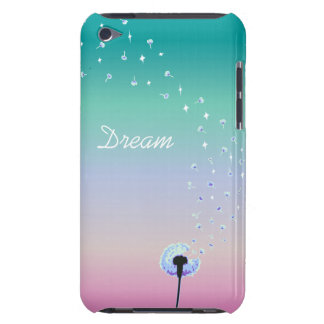 Dandelion Seeds Flying in the Wind - Turquoise iPod Case-Mate Cases