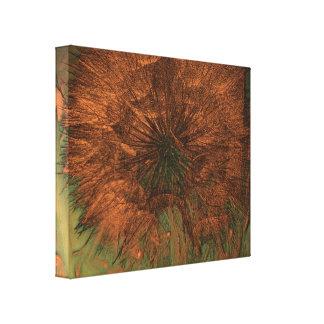 Dandelion Seeds in Coppertone - Digitally Enhanced Canvas Print