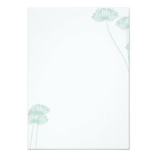 Dandelion Silhouette Invitation