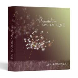 Dandelion Spa Boutique Business Appointment Binder