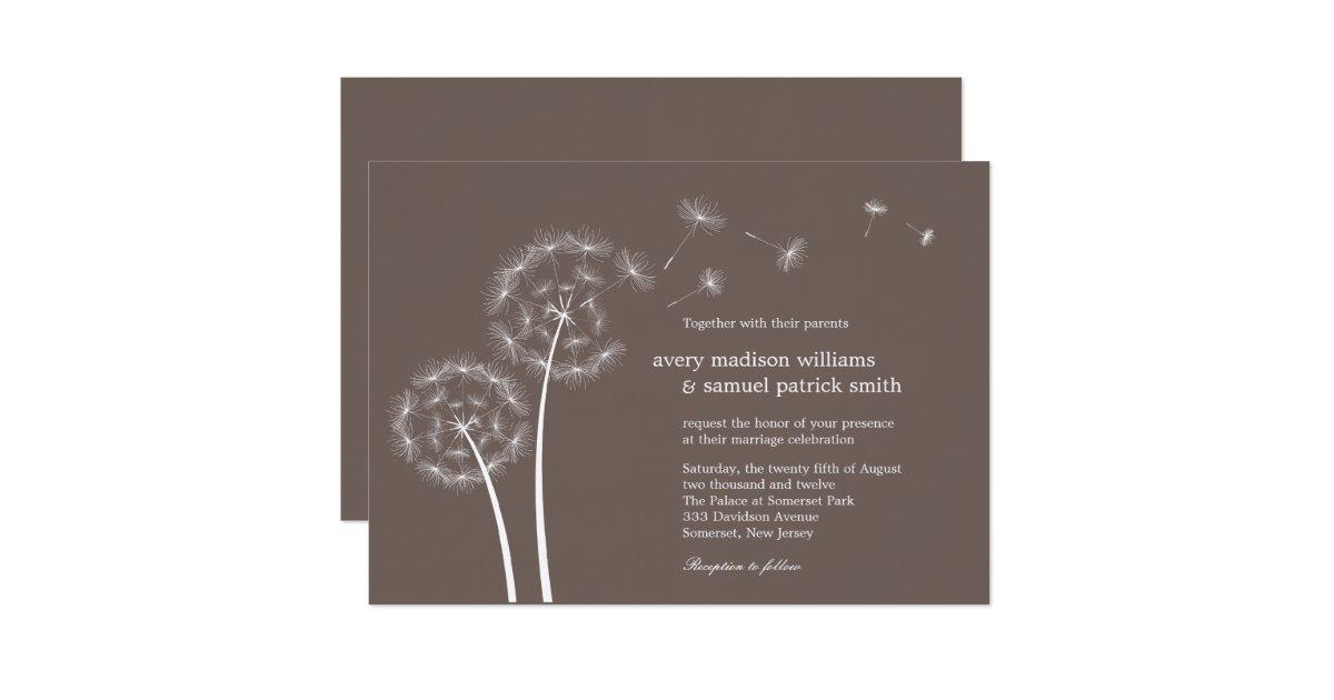 dandelion spring wedding invitation zazzle