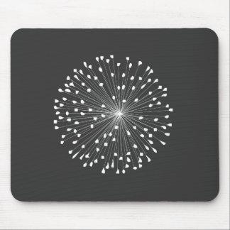 DANDELION STARBURST in WHITE Mousepad