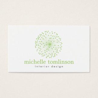 DANDELION STARBURST LOGO in FRESH GREEN Business Card