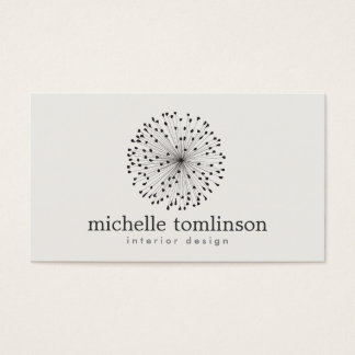 DANDELION STARBURST LOGO on LIGHT GRAY Business Card