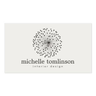 DANDELION STARBURST LOGO on LIGHT GRAY Business Cards