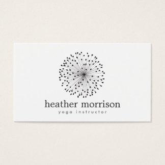 DANDELION STARBURST LOGO on WHITE Business Card