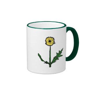 Dandelion T-shirts and Gifts Ringer Coffee Mug