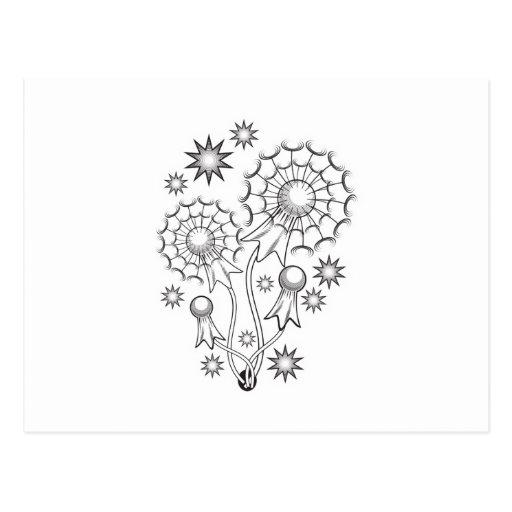 Dandelion Tattoo Design Postcard