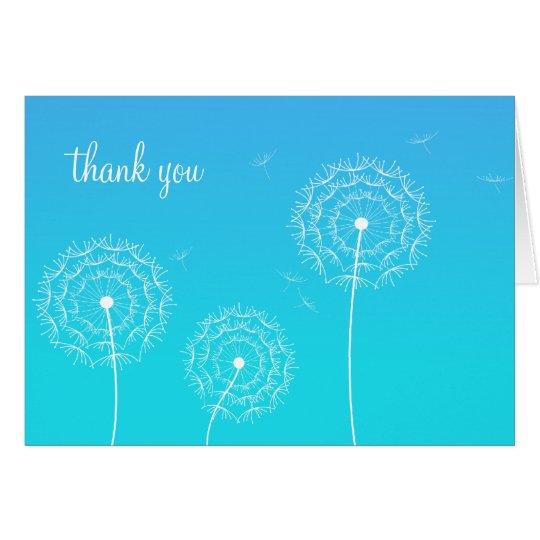 Dandelion Thank You postcard
