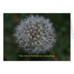 Dandelion Thinking of you Note Card