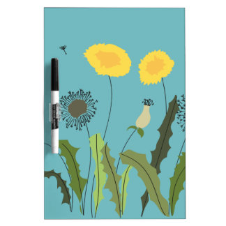 Dandelion, Turquoise Dry Erase Board