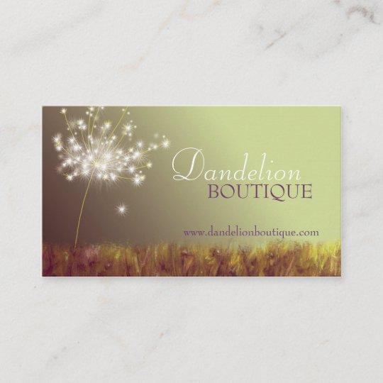 Dandelion unique fashion salon business cards zazzle dandelion unique fashion salon business cards reheart Choice Image