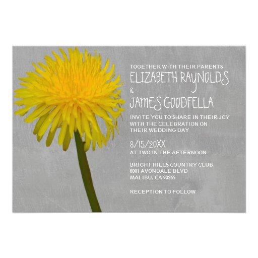 dandelion wedding invitations personalized invitations zazzle