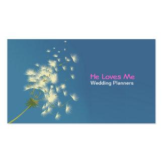 dandelion wedding planners business card