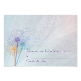 Dandelion Wedding RSVP Card