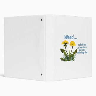 Dandelion Weed Quote 3 Ring Binder