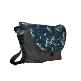 Dandelion Weeds in the Wind Pattern Messenger Bag