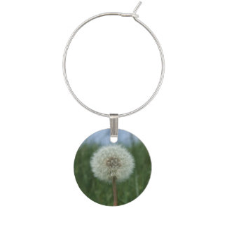 Dandelion Wine Glass Charm