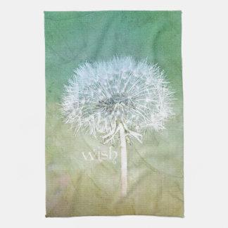Dandelion Wish Dreamy Design Hand Towel