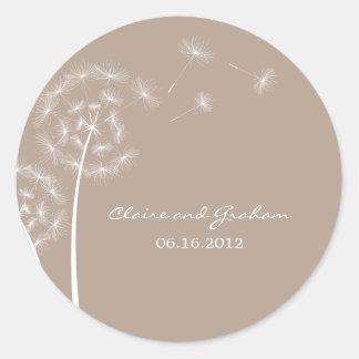 Dandelion Wish Favor Sticker or Envelope Seal