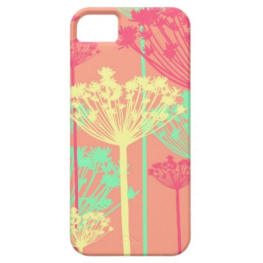 Dandelion wish flowers girly floral pattern iPhone 5 case