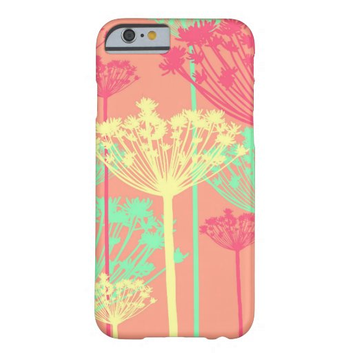 Dandelion wish flowers girly floral pattern iPhone 6 case
