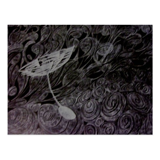 Dandelion wish postcard