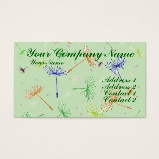 Dandelion Wishes 5 Business Card