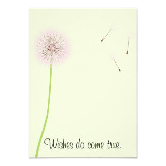 Dandelion Wishes for a Baby Shower in Pinks Card