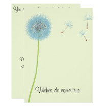 Dandelion Wishes for a Baby Shower Invitation
