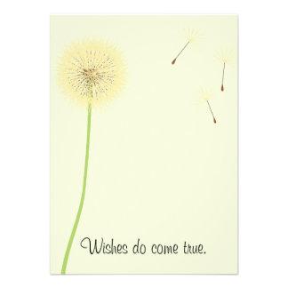 Dandelion Wishes for a Baby Shower Invitation Custom Invitation