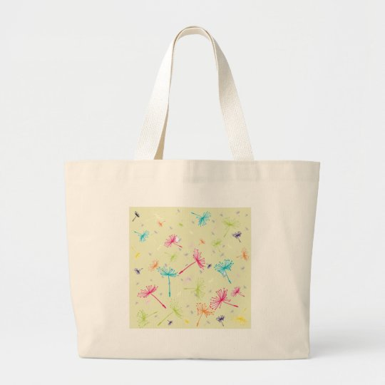 Dandelion Wishes Large Tote Bag
