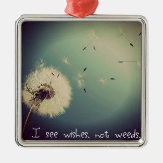 Dandelion Wishes Metal Ornament