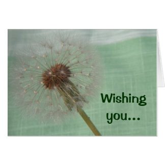 Dandelion Wishes Mother's Day Card