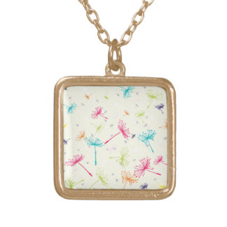 Dandelion Wishes Square Pendant Necklace
