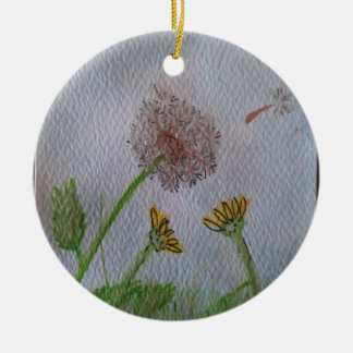 Dandelion Wishes on the Wind Christmas Tree Ornaments