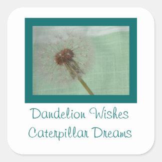 Dandelion Wishes Square Sticker