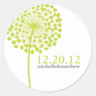 Dandelion Wishes Wedding Favor Stickers