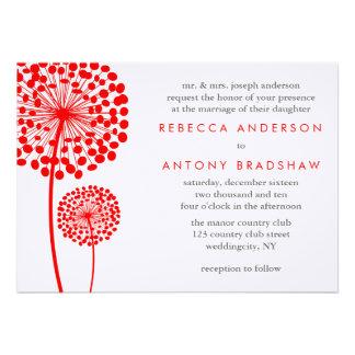 Dandelion Wishes Wedding Announcement