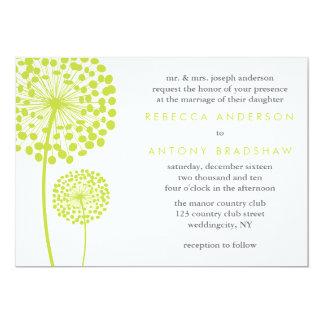 Dandelion Wishes Wedding Custom Invite