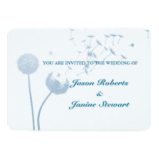 Dandelion Wishes Wedding on Soft Teal Card