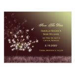 Dandelion Wishes Wedding Save the Date Postcard