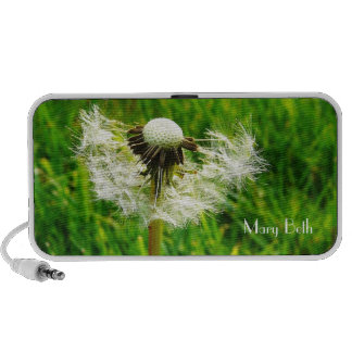 Dandelion Wishes with Your Name Travel Speakers