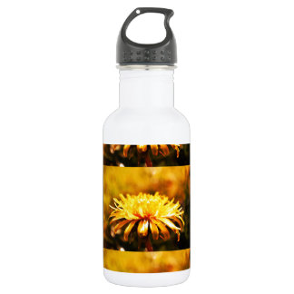 Dandelion Yellow Blossoms Flowers Vines Spring Water Bottle