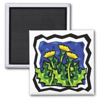 Dandelions 2 Inch Square Magnet