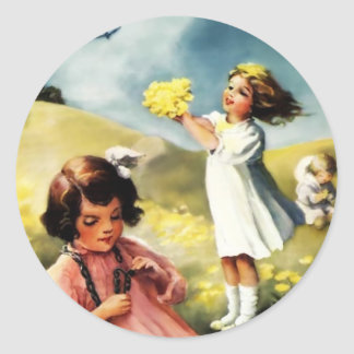Dandelions - Antoinette Inglis Classic Round Sticker