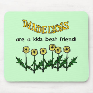 Dandelions Are A Kids Best Friend Tshirts and Gift Mouse Pad