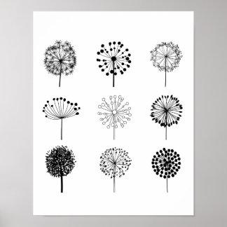 Dandelions Art Print Poster