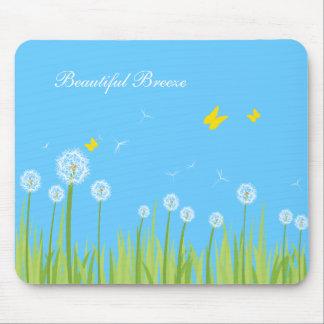 dandelions, Beautiful Breeze Mouse Pad