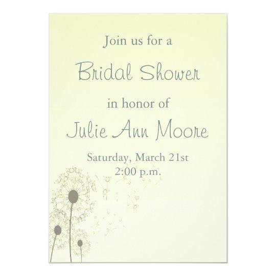 Dandelions Bridal Shower Card